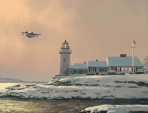 """Afternoon Departure at Stoney Point Lighthouse"" by William S. Phillips"