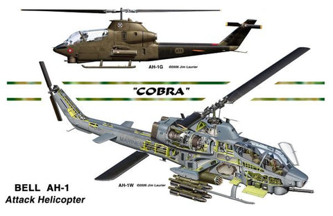 """AH1 Cobra Helicopter"" by Jim Laurier"