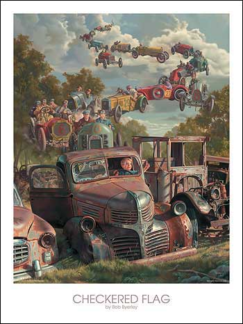 """Checkered Flag"" by Bob Byerley"