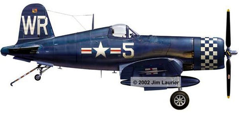 """F4U Corsair in Korean War Markings"" by Jim Laurier"