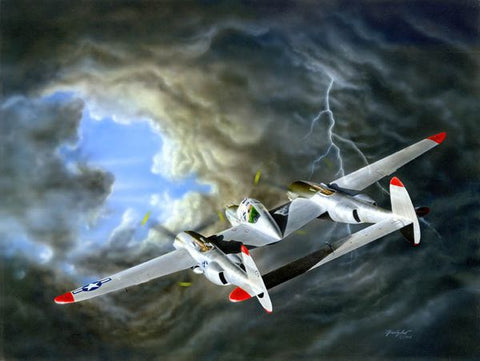 """Lightning - Dick Bong's P38"" by Don Feight"