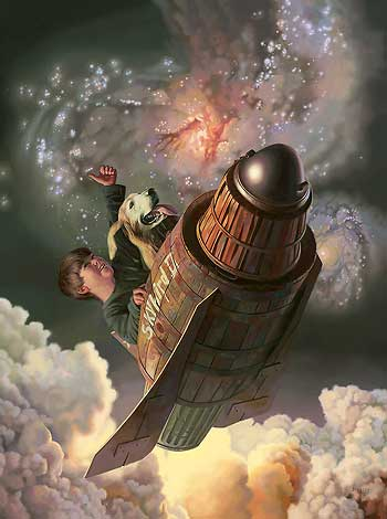 """One Small Step - Boy and Dog"" by Bob Byerley"