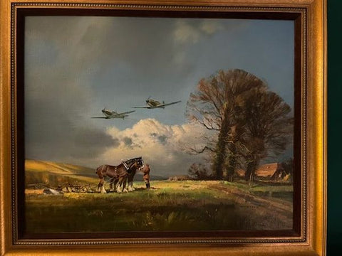 """STEADY THERE,  THEM'S SPITFIRES"" by FRANK WOOTTON"