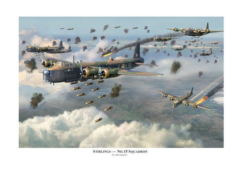 """Stirlings - No. 15 Squadron"" by Jim Laurier"