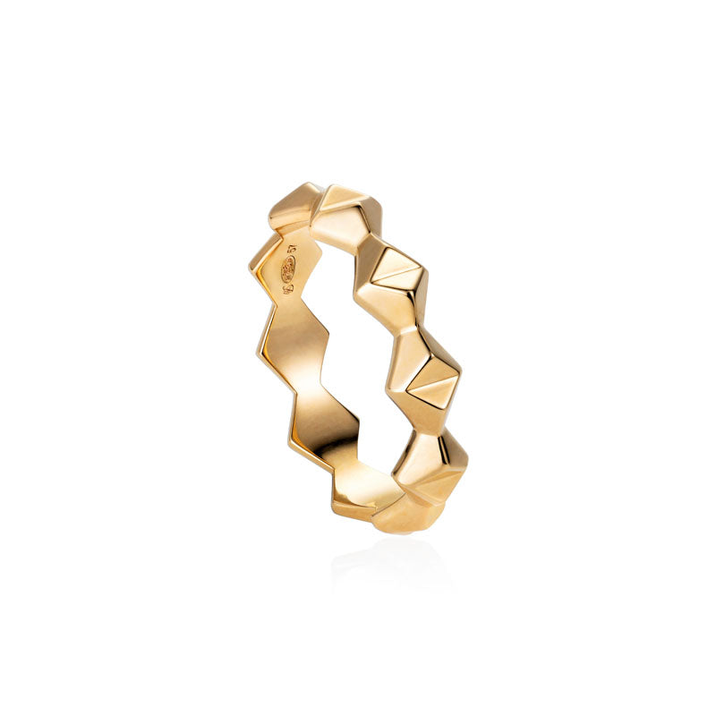 Babylon Stacking Ring in 18K Yellow Gold
