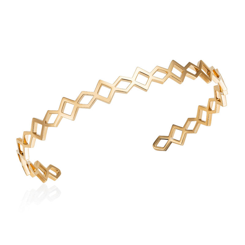 Babylon Play Cuff Bracelet in 18K Yellow Gold