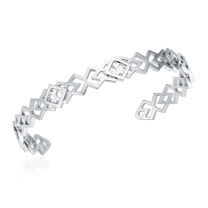 Babylon Kill Cuff Bracelet in 18K White Gold