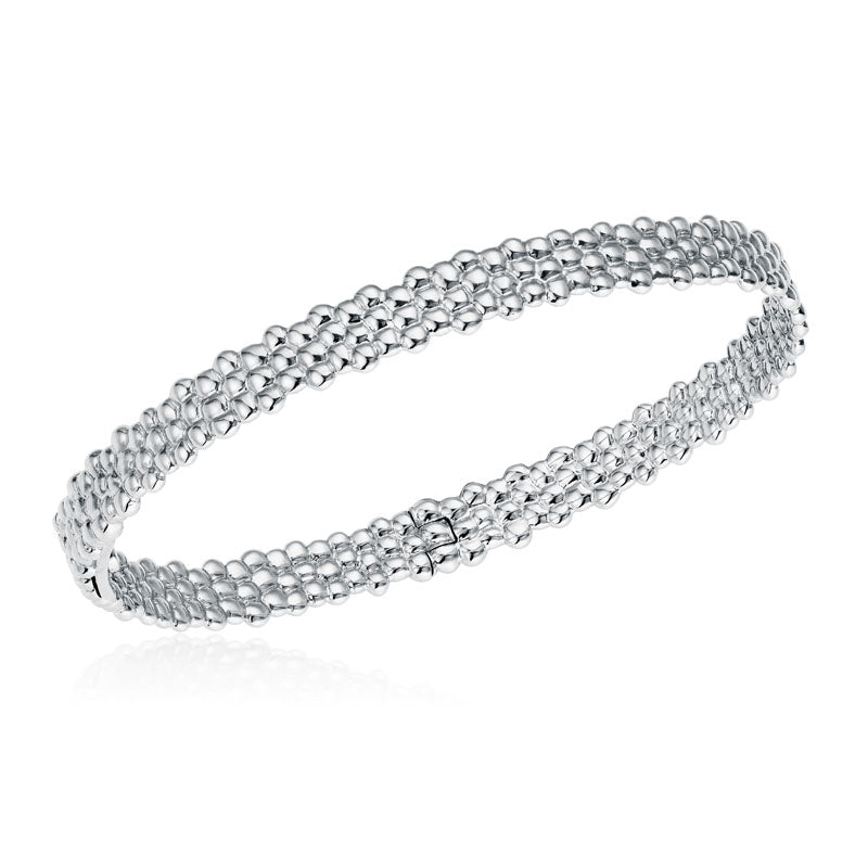 Skinny Bangle Bracelet in 18K White Gold