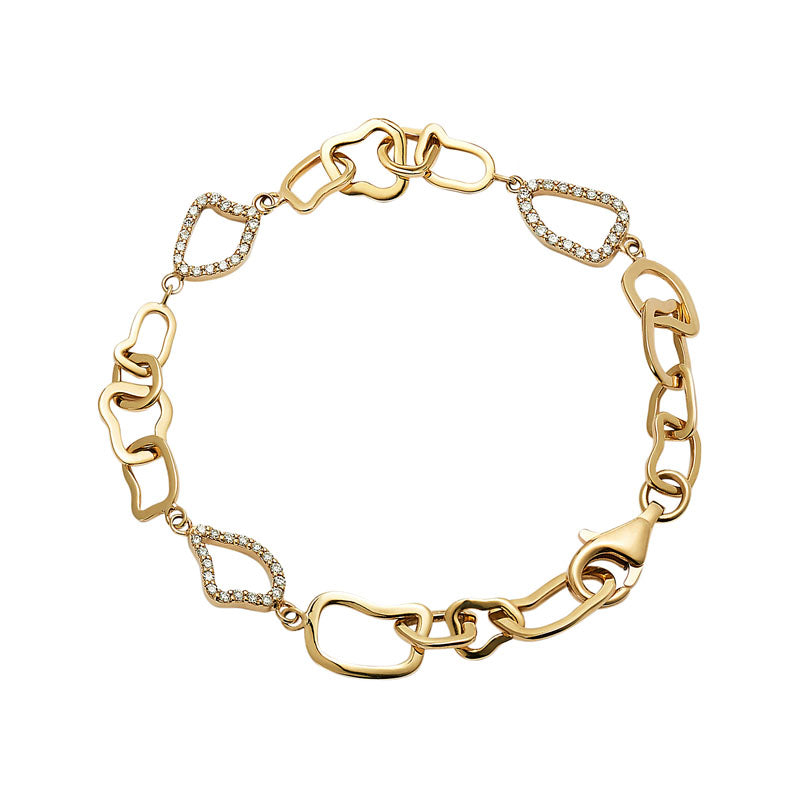 Twiga Chain Diamond Bracelet in 18K Yellow Gold