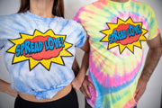 Spread Love Superhero Edition Tee Shirt- Neon