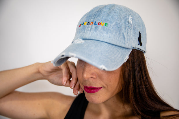 Denim Spread Love Minimalist Dad Cap