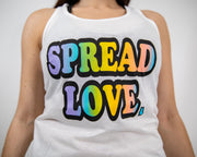New ColorBlast Logo Racerback Tank- White