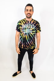 Black Tie Dye Metallic Tee