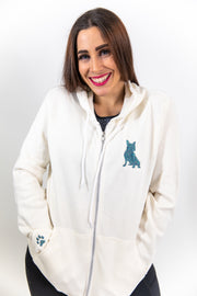 Exclusive Glam Zip-Up- Blue Dreams Glam