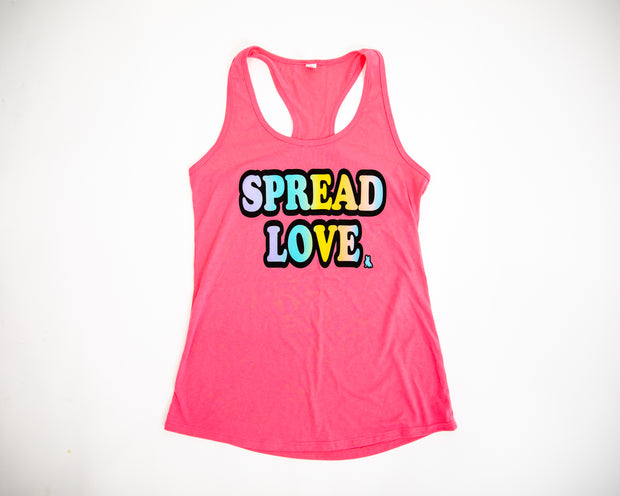 New ColorBlast Logo Racerback Tank- Hot Pink