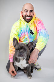Exclusive Neon Spread Love Tie Dye Hooded Sweatshirt