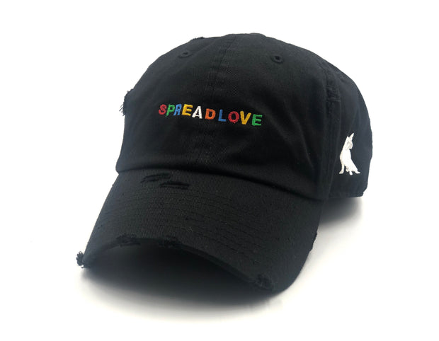 Black Spread Love Minimalist Dad Cap
