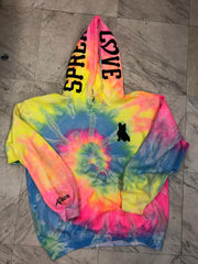 *PERSONALIZED* Exclusive Spread Love Tie Dye Hooded Sweatshirt