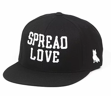 Black And White Spread Love Snapback