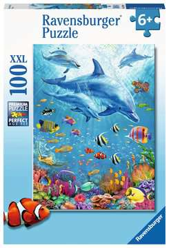 Pod of Dolphins - 100 piece puzzle