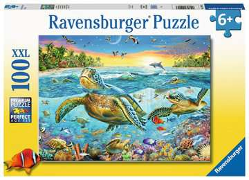 Swim with Sea Turtles - 100 piece puzzle