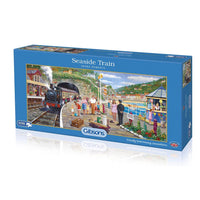 Seaside Train - 636 piece puzzle