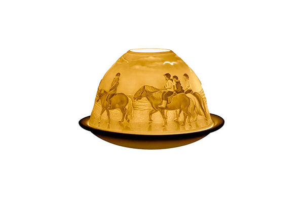 Horses on the Beach - Tealight Candle Holder