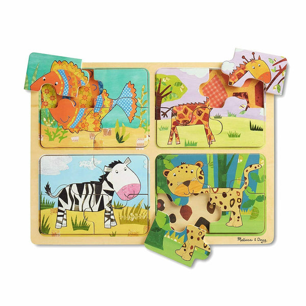 Melissa & Doug - Wooden Puzzle Animal Patterns