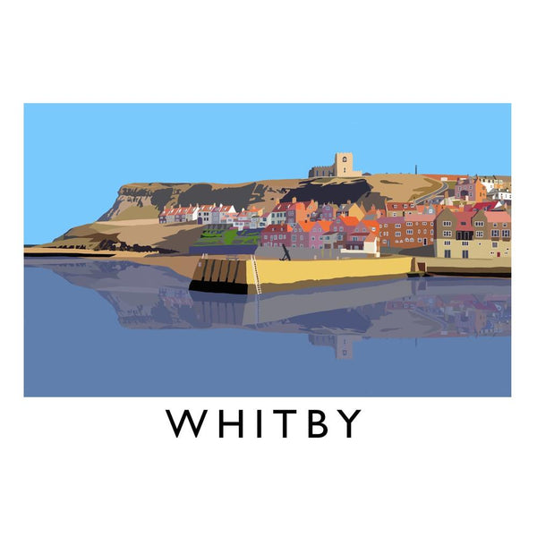 Whitby Cushion Cover - Whitby Harbour