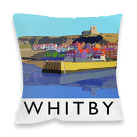 Whitby Filled Cushion - Whitby Harbour