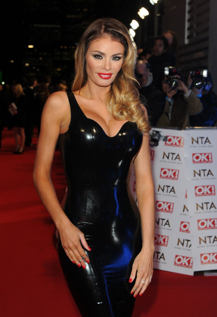 TOWIE Star Chloe Sims Wears House of Harlot Latex Rubber Dress at National Television Awards!