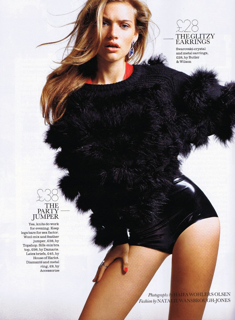 House of Harlot featured in ELLE Magazine January 2012
