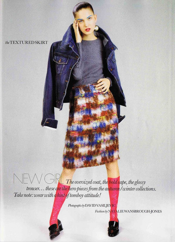 House of Harlot GINETTE Socks featured in August 2012 UK ELLE