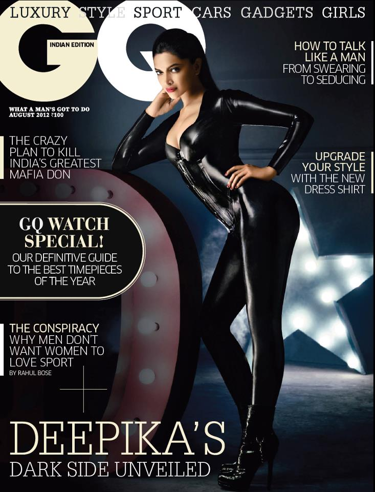The Gorgeous Deepika Padukone wearing our FLICK Catsuit on GQ India Cover!