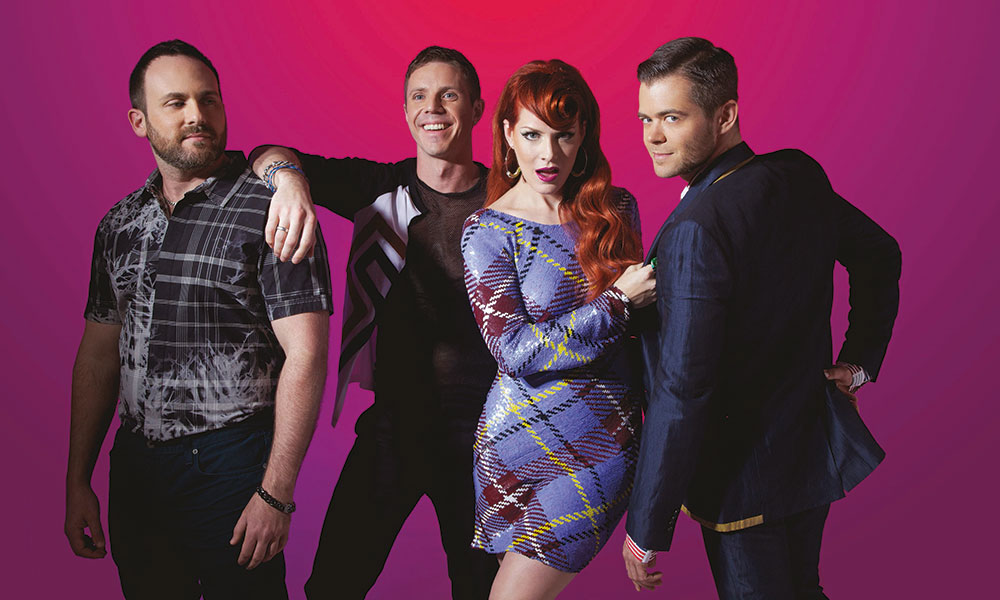 Scissor Sisters wearing House of Harlot on Chattyman Live Performance