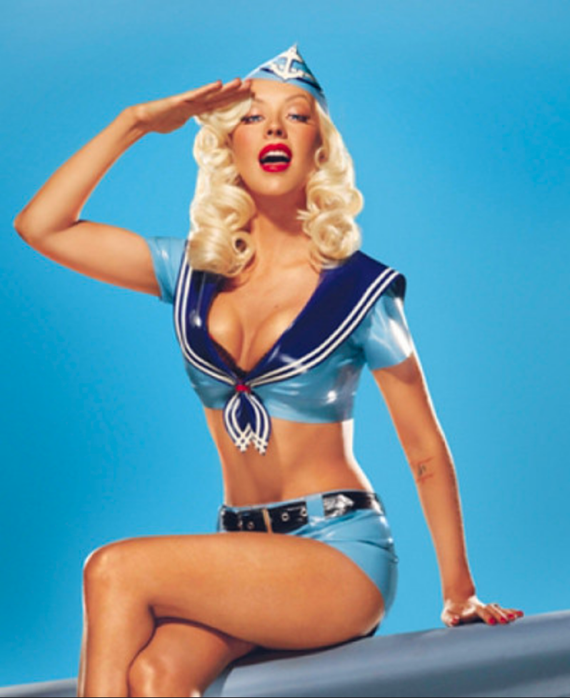 Christina Aguilera is a Pin Up Girl in House of Harlot latex in her new Single 'Candyman'