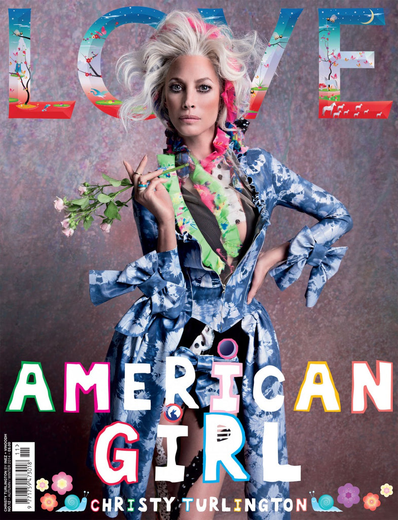 Christy Turlington on LOVE Magazine A/W14 in House of Harlot Latex