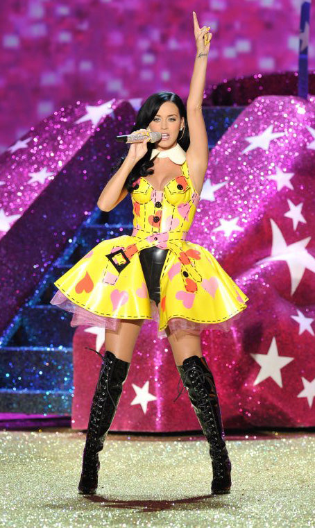 Katy Perry in Custom House of Harlot Outfit for Victoria's Secret Fashion Show 2010!