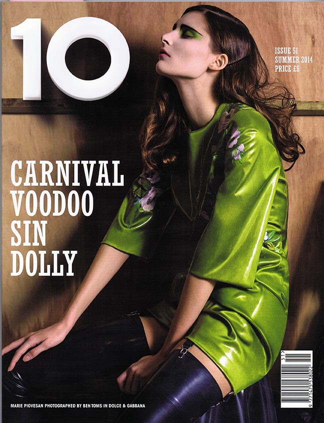 No. 10 Magazine 'Sin In My Heart' featuring House of Harlot latex pieces
