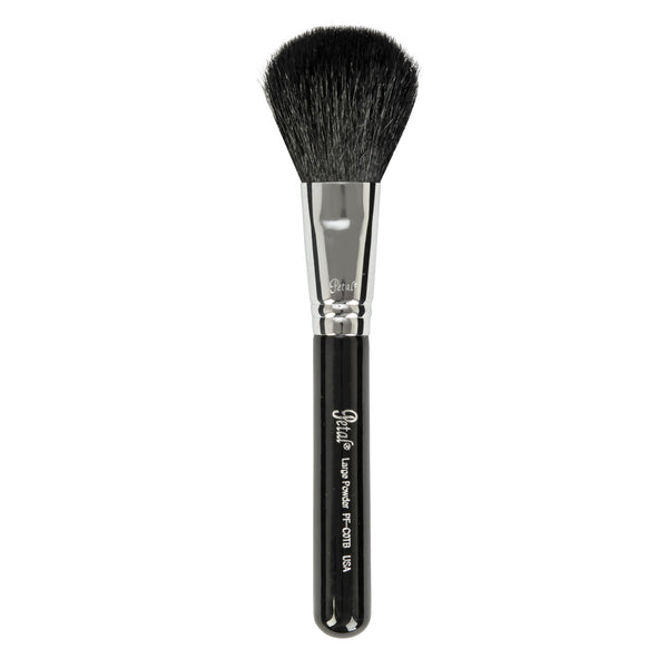 Petal Beauty Face Large Powder Round Head Travel makeup Brush - Black