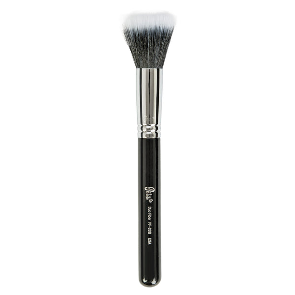 Petal Beauty Face Duo Fiber makeup Brush - Black