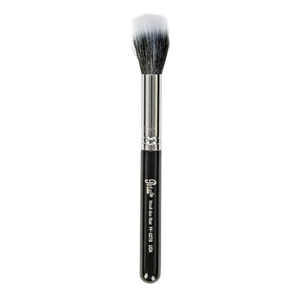 Petal Beauty Face small Duo Fiber Travel-size makeup Brush - Black