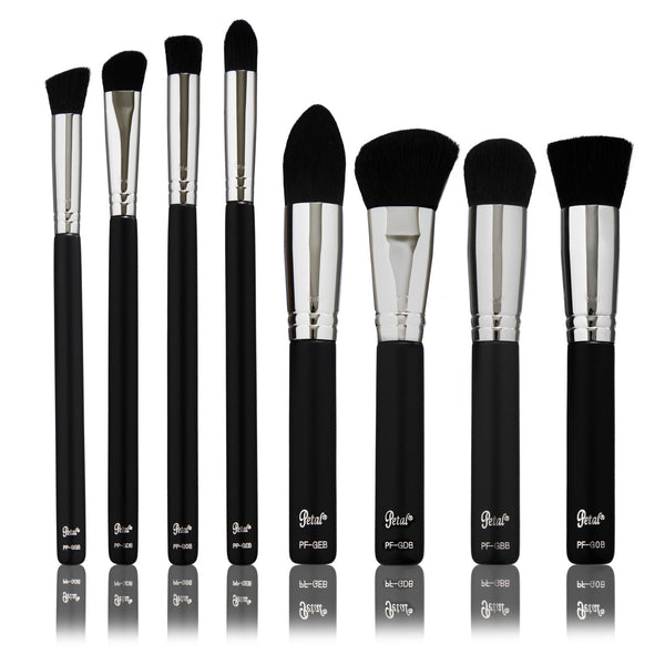 Petal Beauty Basic Synthetic 8 Piece Brush makeup Kit - Matte