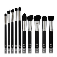 Petal Beauty Basic Synthetic 10 Piece Brush makeup Kit - Matte