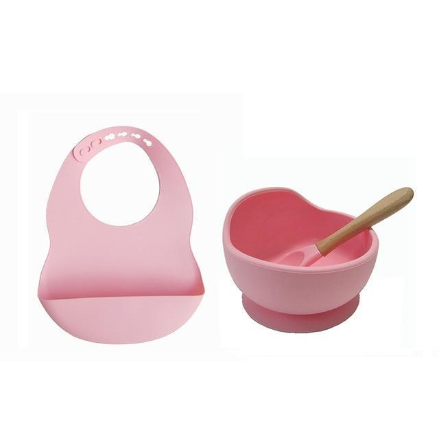Bowl Suction and Spoon + Bib FREE INFFANT®