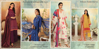 Dress up with elegance, in Nishat's unstitched Eid collection 2021