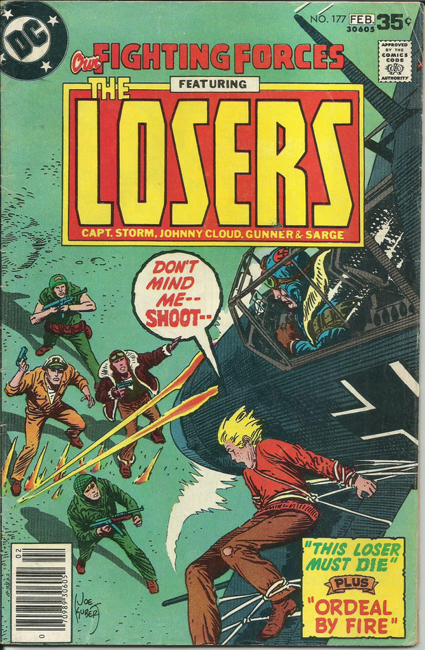 OUR FIGHTING FORCES:The LOSERS Lot #172,177 (DC/1977-1978)