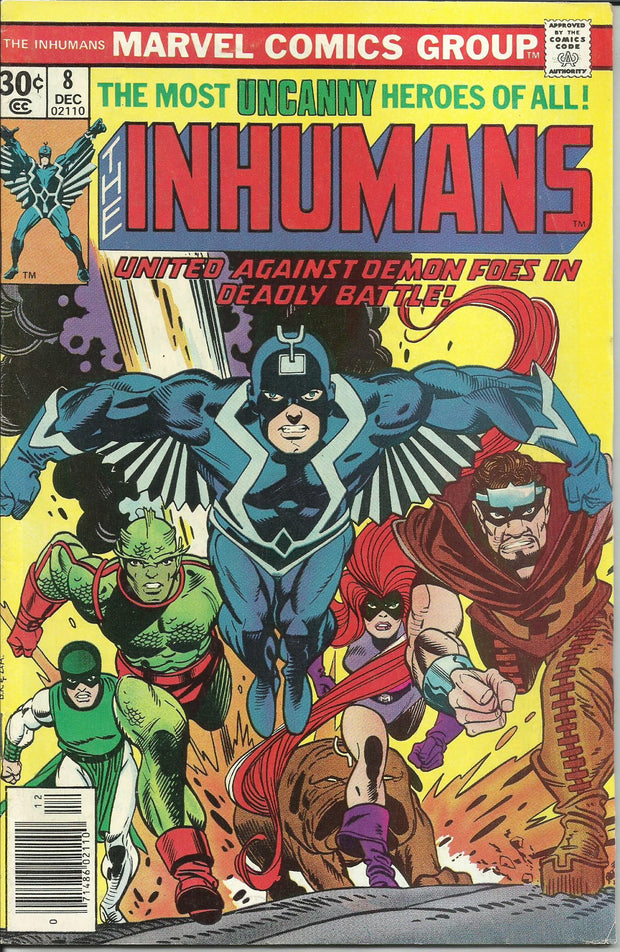 Inhumans 08 (1975 1st Series)*FINE++