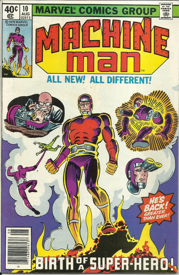 Machine Man 10 (1978 1st Series)*VG+/Newsstand Edition
