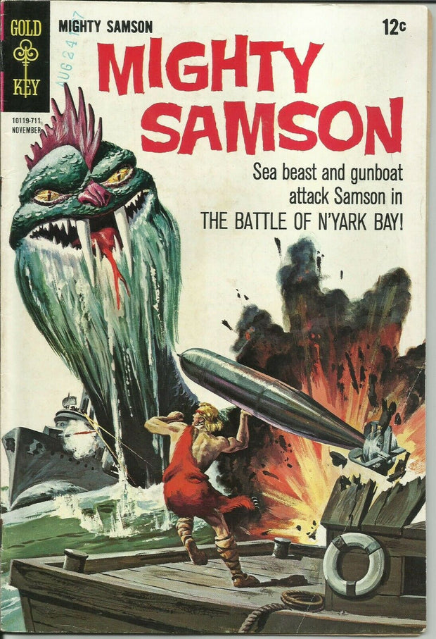 Mighty Samson 12 (1964 Gold Key)*VG+/FINE